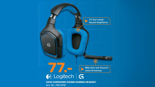 Logitech Surround Sound Gaming Headset G430 (981-000537) © Saturn