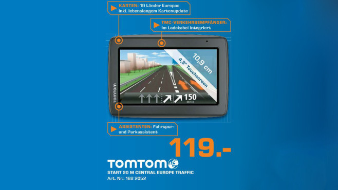 TomTom Start 20M Central Europe Traffic © Saturn