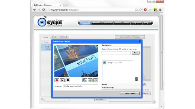 Videobotschaft per E-Mail versenden ©COMPUTER BILD