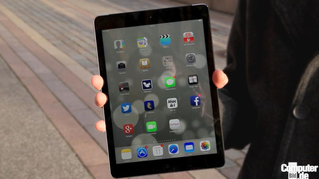 ipad air test des schlanken apple tablets computer bild. Black Bedroom Furniture Sets. Home Design Ideas