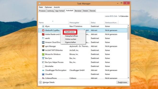 Windows schneller machen: Unnötige Autostart-Programme deaktivieren ©COMPUTER BILD