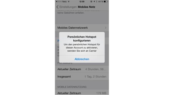 Screenshot Hotspot funktioniert nicht ©COMPUTER BILD