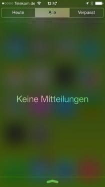 Mitteilungszentrale: Keine Mitteilungen ©Apple, COMPUTER BILD