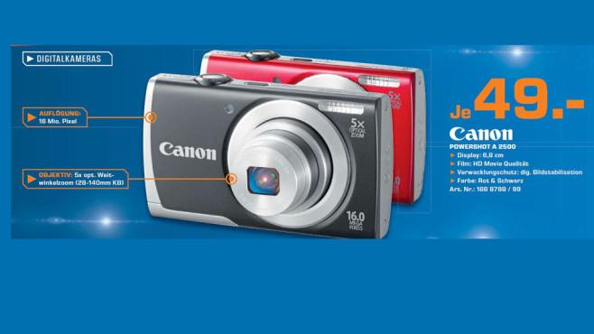 Canon Powershot A 2500 ©Saturn