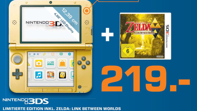 Nintendo 3DS XL inklusive Zelda: Link between Worlds © Saturn