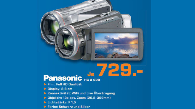 Panasonic HC X 929 © Saturn