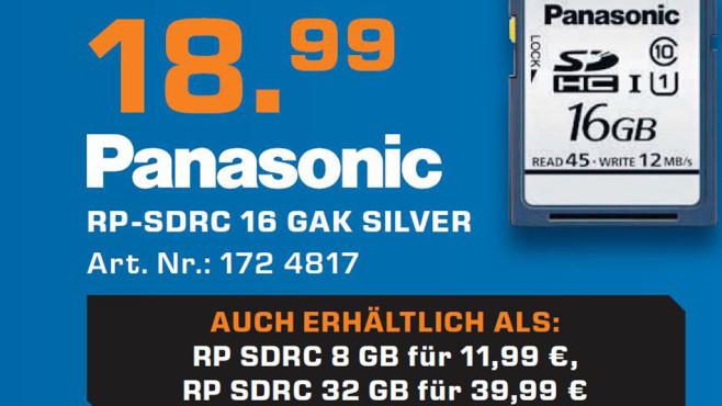 Panasonic RP-SDRC 16 Gigabyte ©Saturn