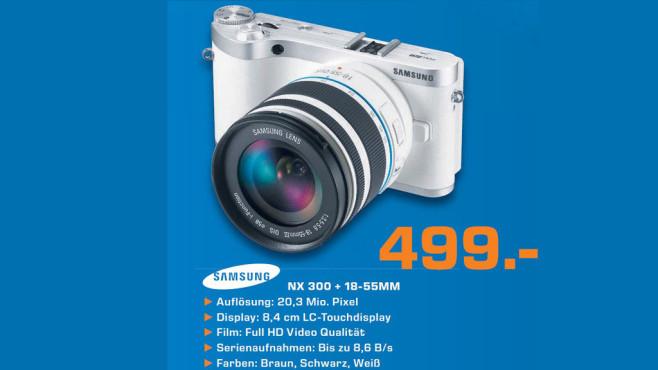Samsung NX 300 + 18-55mm Objektiv ©Saturn