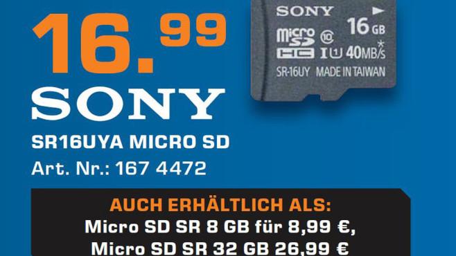 Sony SR16UYA 16 Gigabyte ©Saturn