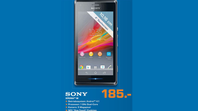 Sony XPERIA M ©Saturn