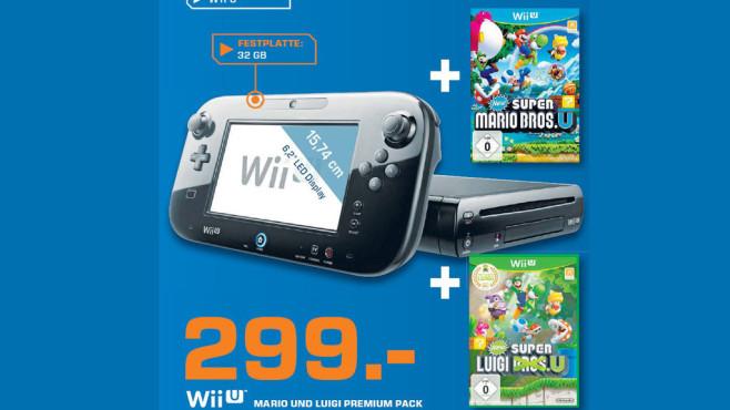 WiiU inklusive Super Mario Bros. U ©Saturn