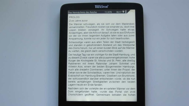 eBook-Reader Trekstor Pyrus 2 LED © COMPUTER BILD