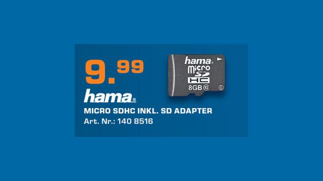 Hama microSDHC 8GB Class 10 UHS-I (114991) ©Saturn