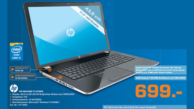 Hewlett-Packard HP Pavilion 17-E176EG © Saturn