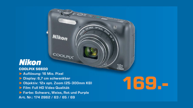 Nikon COOLPIX S6600 © Saturn
