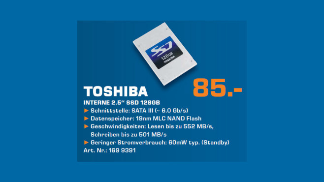Toshiba Q Series 128GB SATA III © Saturn