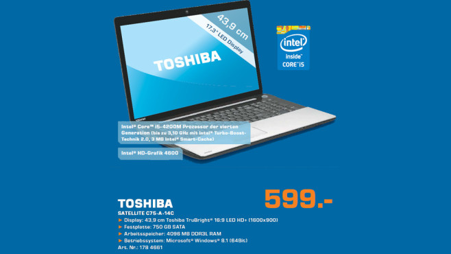Toshiba Satellite C75-A-14C © Saturn