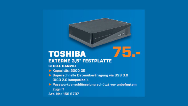 Toshiba Stor.e Canvio Desktop 2TB ©Saturn