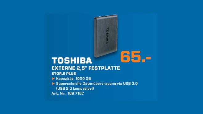 Toshiba Stor.e Plus 1TB ©Saturn