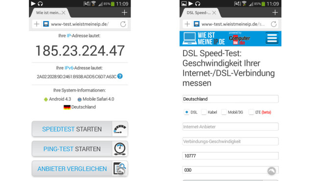 Wie ist meine IP Screenshot Mobile ©COMPUTER BILD