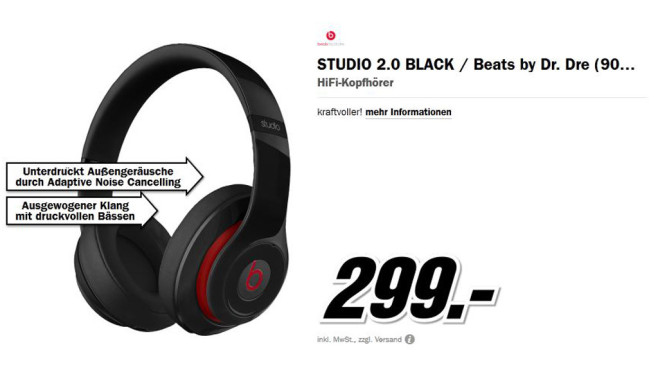 Beats Studio 2.0 Beats by Dr. Dre © Media Markt