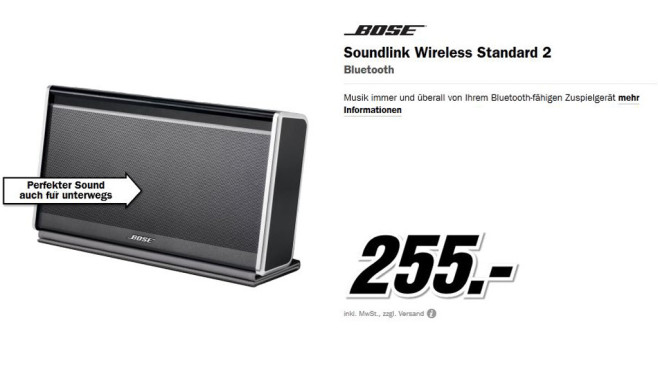 Bose SoundLink Bluetooth Mobile Speaker II © Media Markt