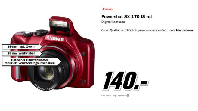 Canon Powershot SX170 IS © Media Markt