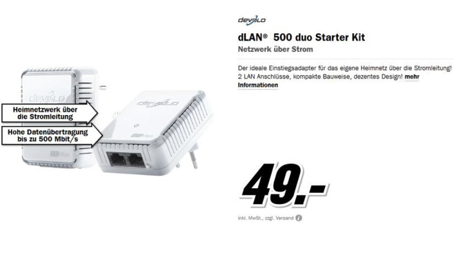 Devolo dLAN 500 duo Starter Kit © Media Markt