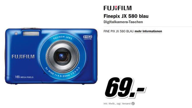 Fuji Finepix JX 580 ©Media Markt