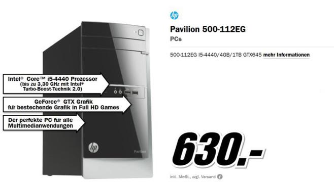 HP Pavilion 500-112EG ©Media Markt