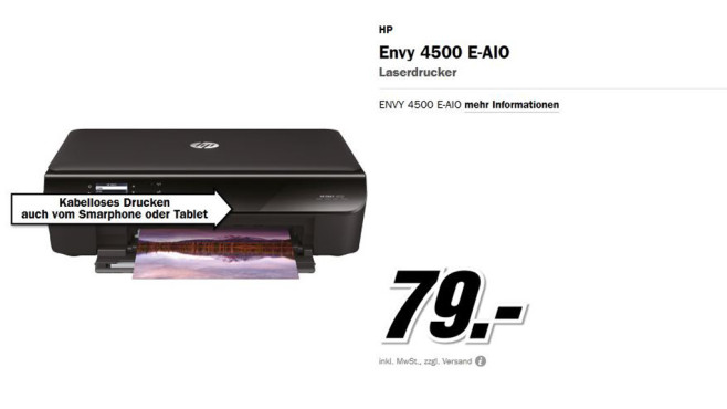 Hewlett-Packard HP Envy 4500 e-All-in-One © Media Markt