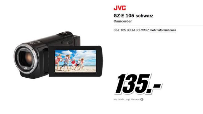 JVC GZ-E105BEU ©Media Markt
