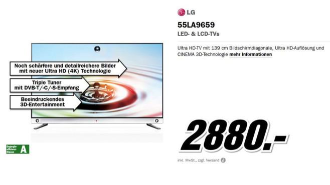 LG 55LA9659 ©Media Markt