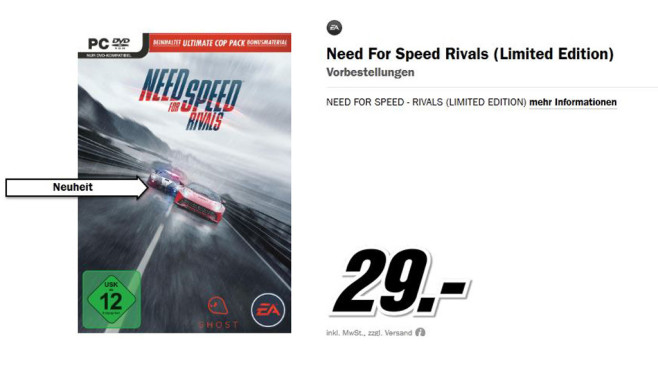 Need for Speed Rivals Limited Edition © Media Markt