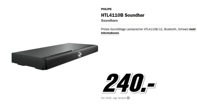 Philips HTL4110B © Media Markt