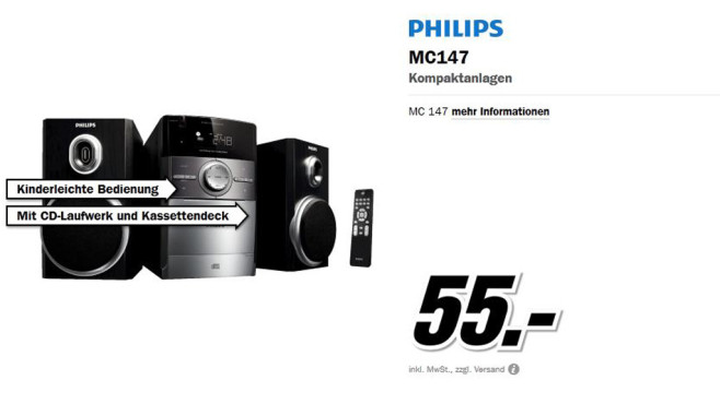 Philips MC147 © Media Markt
