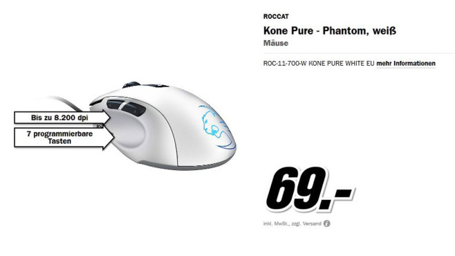 Roccat Kone Pure - Phantom © Media Markt