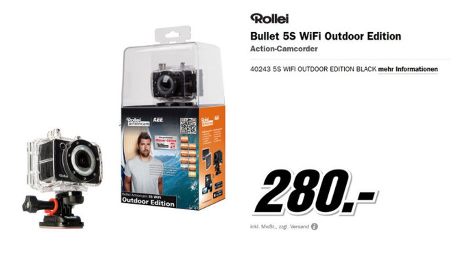 Rollei Actioncam 5S WiFi Outdoor  Rollei Actioncam 5S WiFi Outdoor  Rollei Actioncam 5S WiFi Outdoor © Media Markt