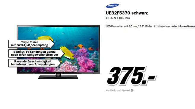 Samsung UE32F5370 ©Media Markt