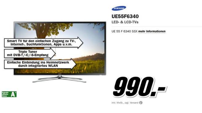 Samsung UE55F6340 ©Media Markt