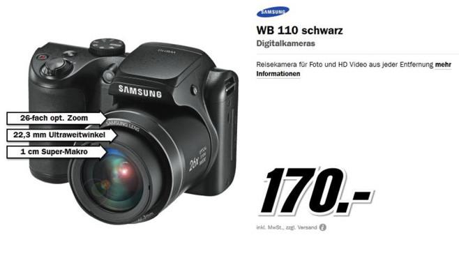 Samsung WB110 ©Media Markt
