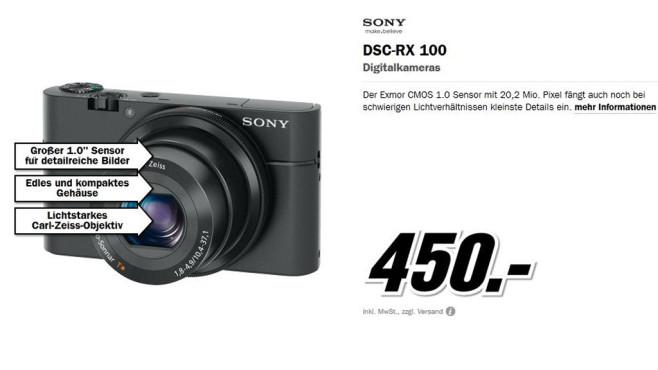 Sony Cyber-shot DSC-RX100 ©Media Markt