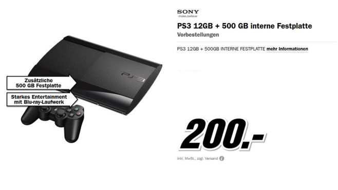 Sony PlayStation 3 (PS3) Super slim 500GB © Media Markt