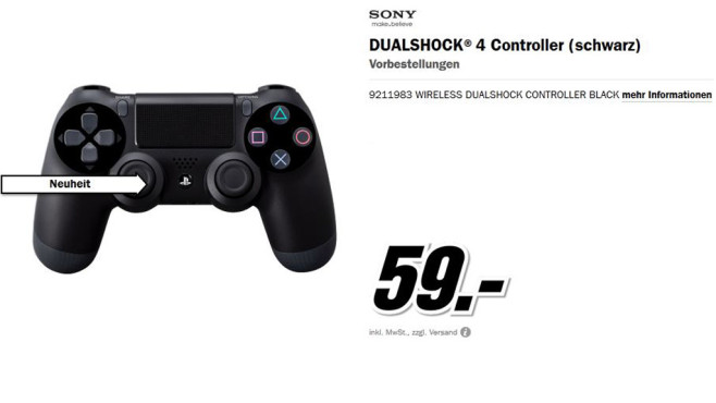 Sony PlayStation 4 Dualshock 4 Controller © Media Markt