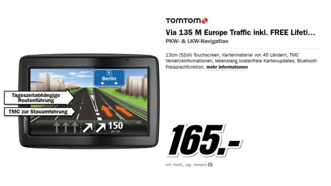 TomTom Via 135 EU © Media Markt
