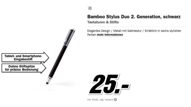 Wacom Bamboo Stylus duo ©Media Markt