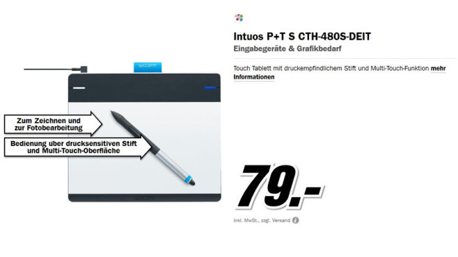 Wacom Intuos Pen + Touch © Media Markt