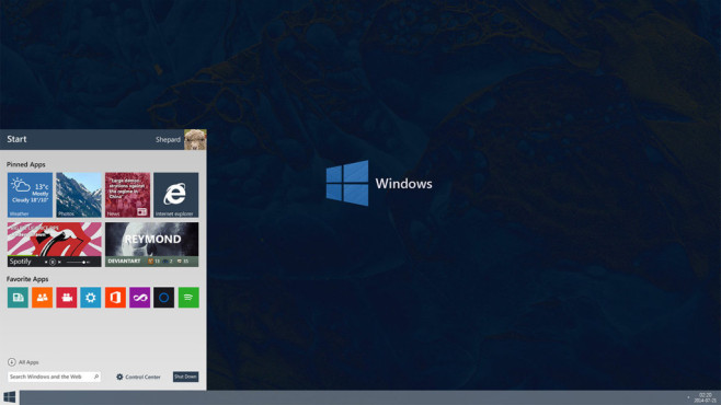 Windows 10 Redesign / Concept Menu © Reymond-P-Scene