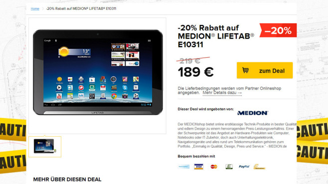 Medion Lifetab E10311 (MD 99192) © Medion, Black Friday GmbH