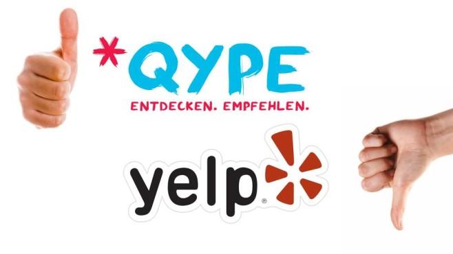 Logos von Qype und Yelp ©Montage: COMPUTER BILD